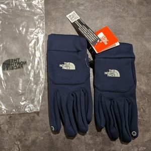 The north face Navy lightweight running gloves L